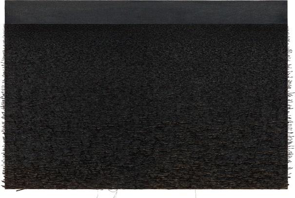 Yoan Capote. Palangre (muro de mar II) (2016). Pintura, técnica mixta, 101,6 x 152,4 x 8,9 cm