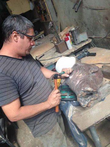 artista cubano Osmany Betancourt / Lolo (esculturas)