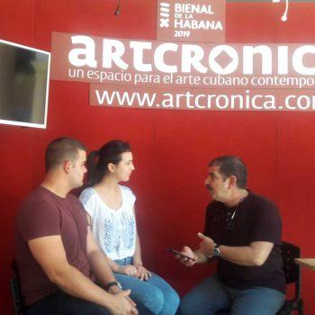 Ale y Manolo conversan con David Mateo XIII Bienal de La habana