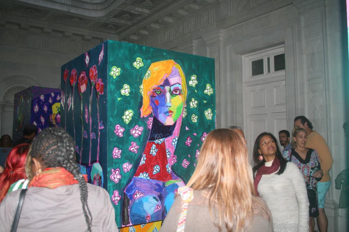 Exposición colectiva de alumnos de Rocío García, por el bicentenario de la Academia San Alejandro. Sede de la Alianza Francesa. La Habana. 2018