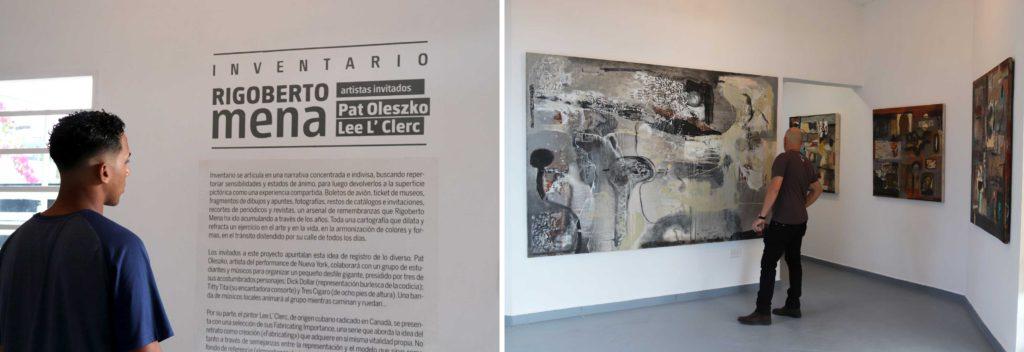 El INVENTARIO exposición del artista Rigoberto Mena