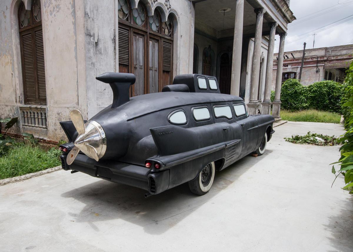 Cadillac, 2012. Serie No todo lo que vuela se come. Dimensiones variables.