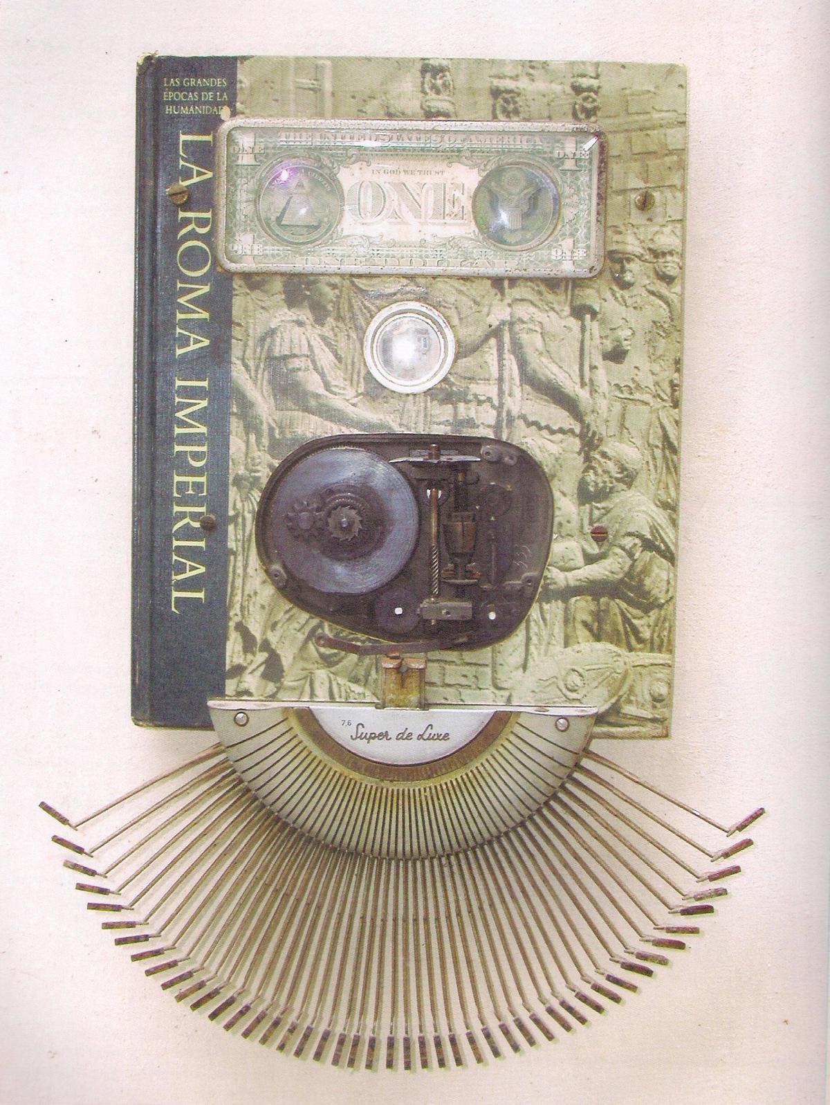 Eduardo Ponjuán. La Roma imperial. 1998. De la serie Time Life. Instalación. 41 x 29 x 4.5 cm.