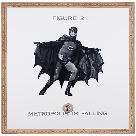 Torres Llorca en Praxis, Is Falling / 2009 / Acrílico sobre madera / 36 x 36 pulgadas