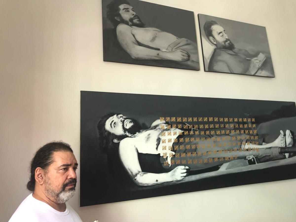 José Angel Toirac en su estudio