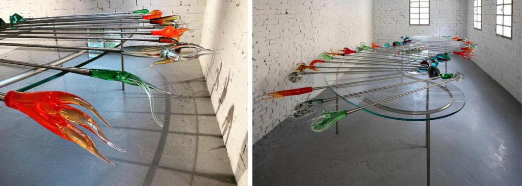 Carlos Garaicoa / Jardín Fragile / Detalle y vista general / Exposición GLASSTRESS 2019 / Imágenes de Internet