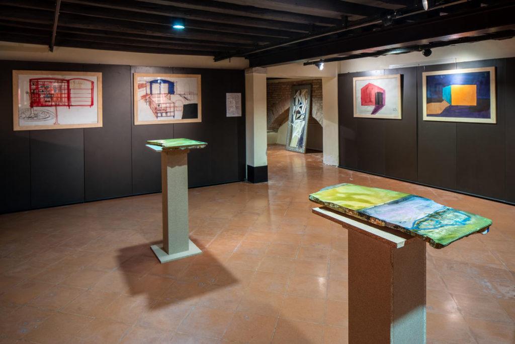 Carlos Quintana / Dibujos arquitectónicos / Vista general de la exposición IN FINITO / Imágenes Pérez & del Valle