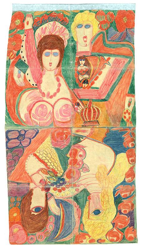 Aloïse Corbaz - Sin título, ca. 1960