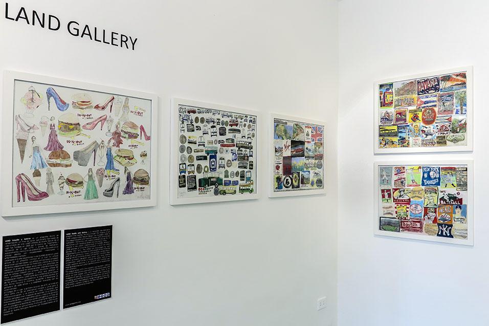 Vista de la exhibición Conectando Expresiones Espontáneas Vol. I. RIERA STUDIO, La Habana, 2018. Obras de artistas invitados del LAND Estudio y Galería (Nueva York, Estados Unidos).