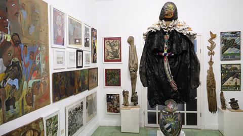 Documentación fotográfica de 2018, en RIERA STUDIO, con parte de la Colección Art Brut Project Cuba, La Habana.
