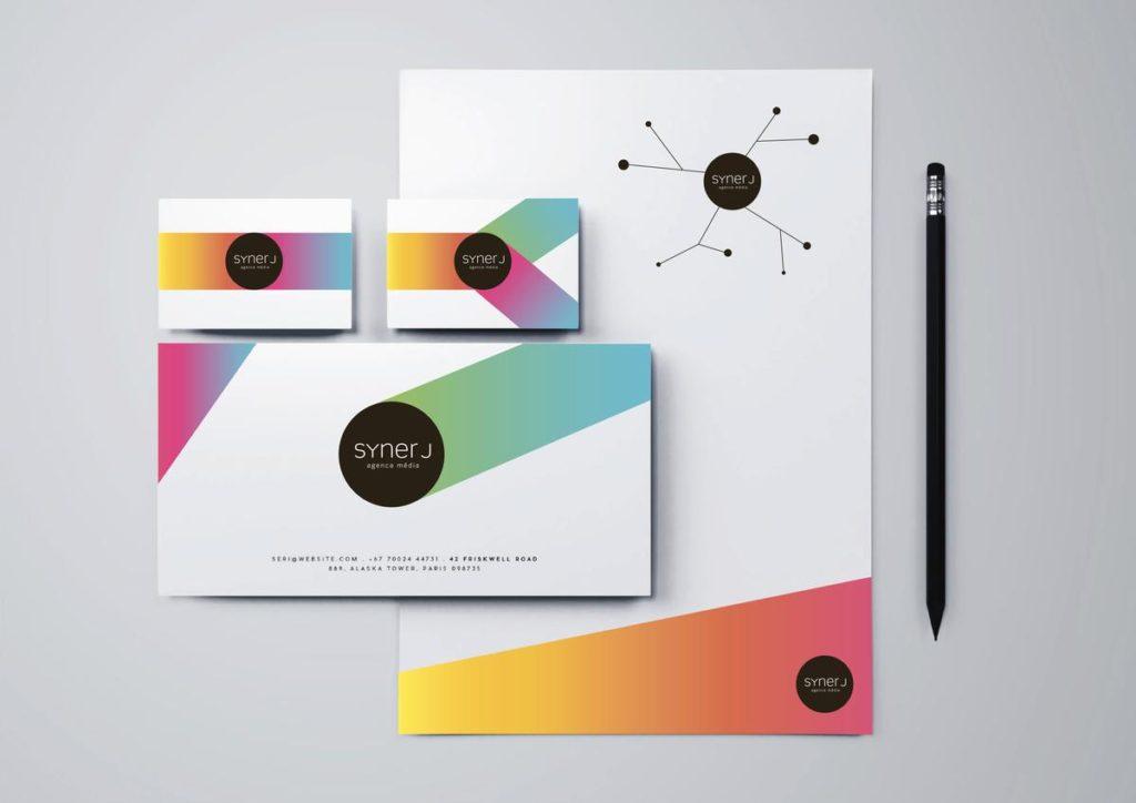 Identidad Visual para la agencia Syner J SA. Delémont, Suiza