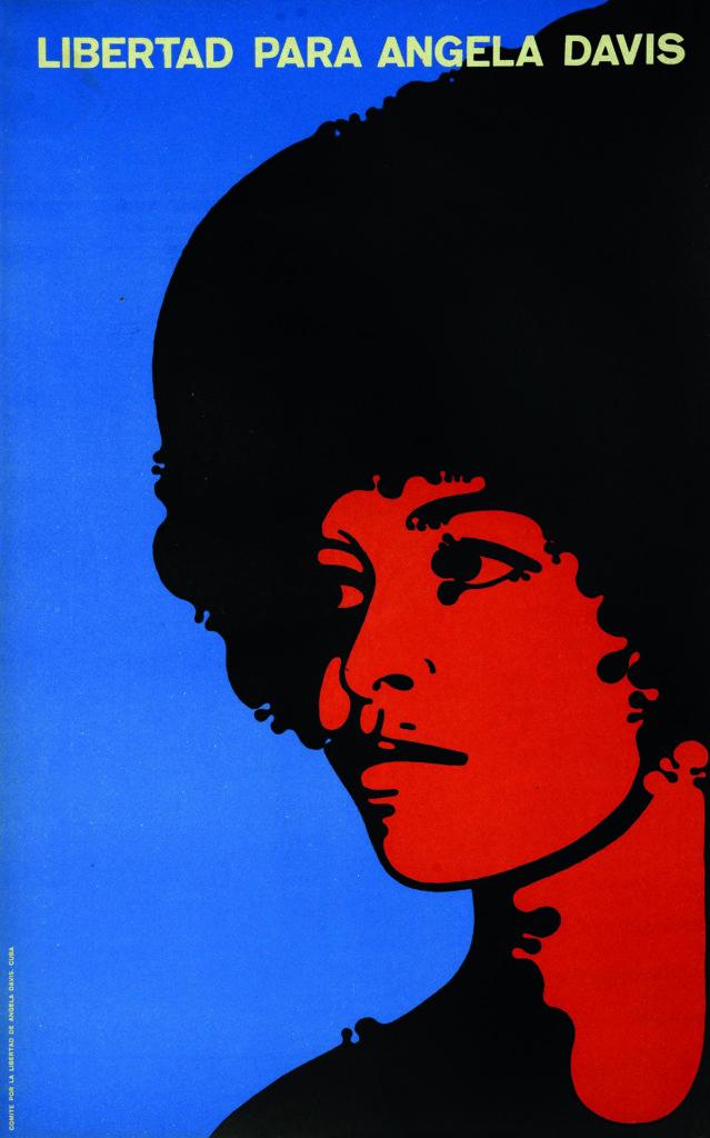 Cartel Libertad para Ángela Davis
