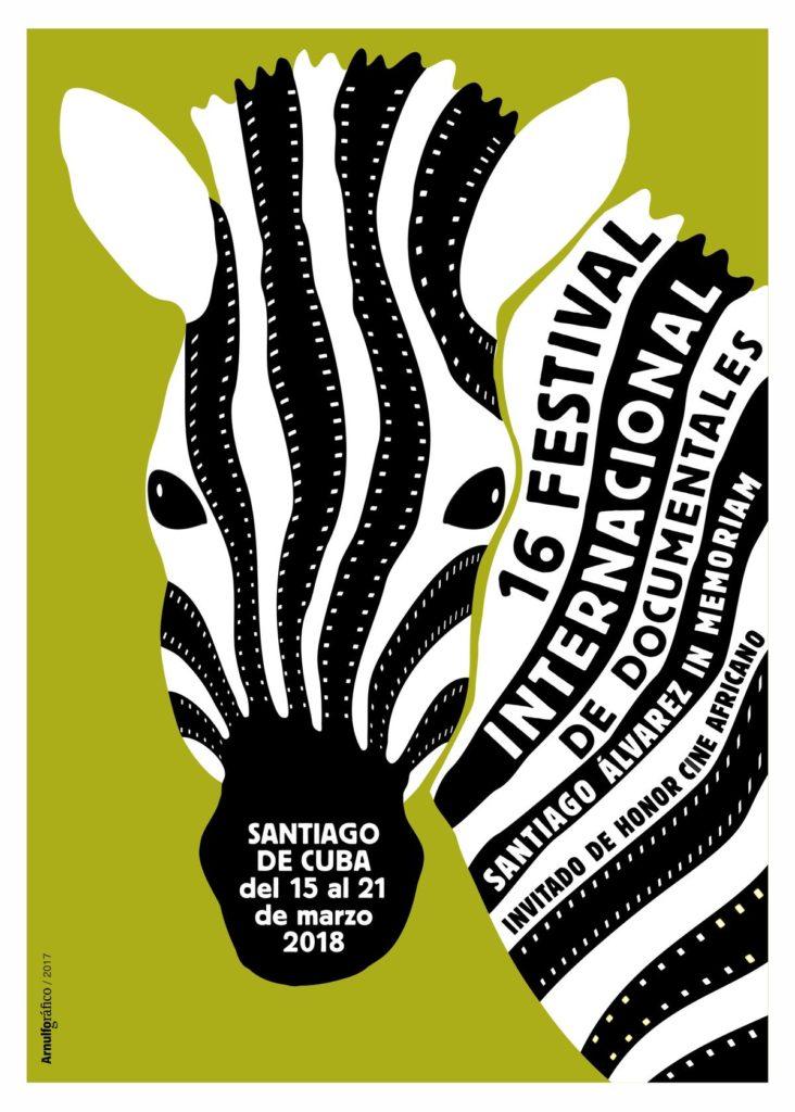 Cartel del Festival internacional de documentales Santiago Álvarez