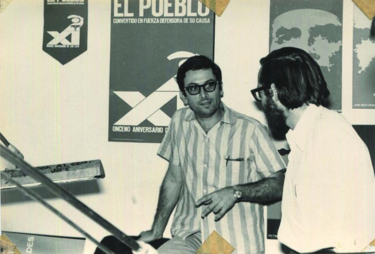 Retrato de Félix Beltrán en las Oficinas de 11 y 4