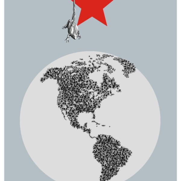 De la serie Rorschach Cuento chino. Impresión digital en tela. 100 x 70 cm. 2009