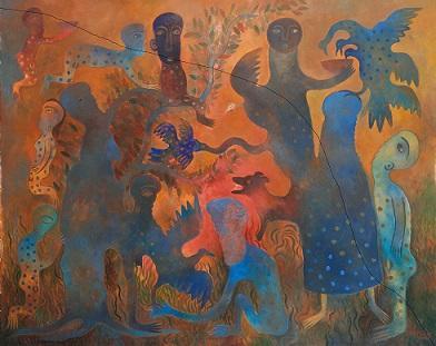La fuga del crepúsculo / Acrílico sobre lienzo / 120.6 x 152.4 cm
