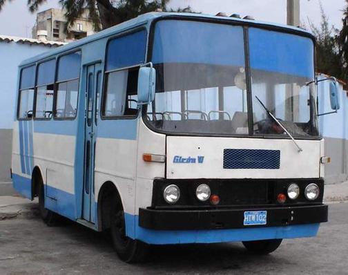 Diseño cubano de la carrocería del Ómnibus Girón VI, años 70.