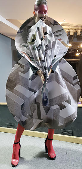 Diseño para evento Arte y Moda. Inspirado en la obra de René Francisco