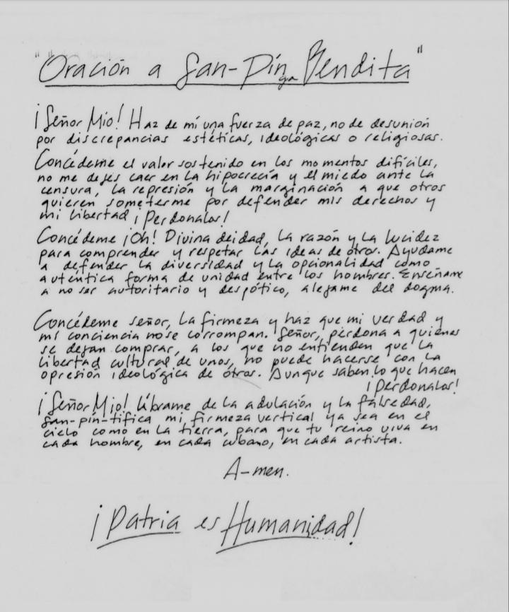 Juan-Sí González y el grupo AR-DE: Oración a San-Pinga Bendita /1988 / Volante.