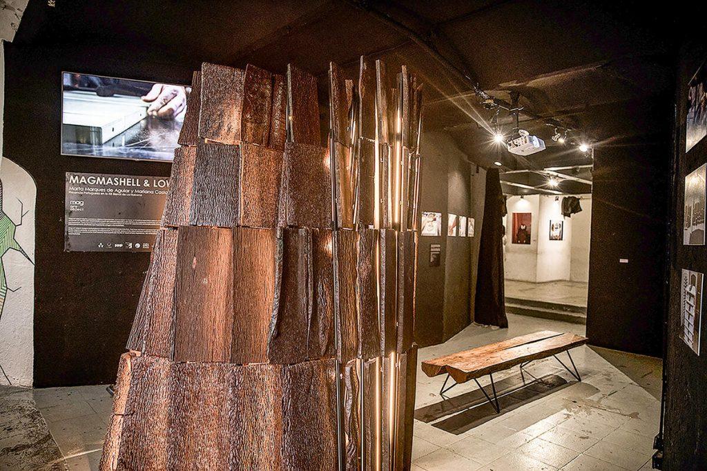 Magmashell & Lowtide (2019: de Portugal), por Marta Marqués de Aguiar y Mariana Costa, exposición en FAC, durante la XIII Bienal de La Habana. (Foto: Larisa López).