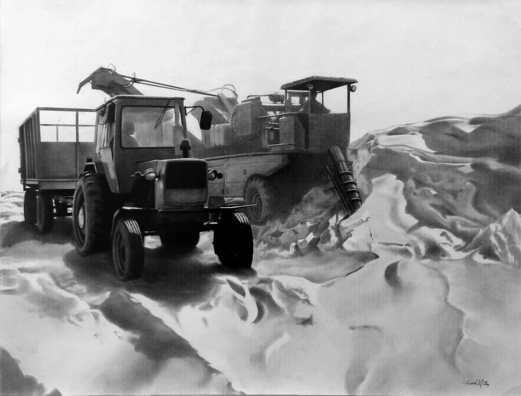 Campaña de frío / 2019 / Carbón sobre papel / 70 x 92 cm