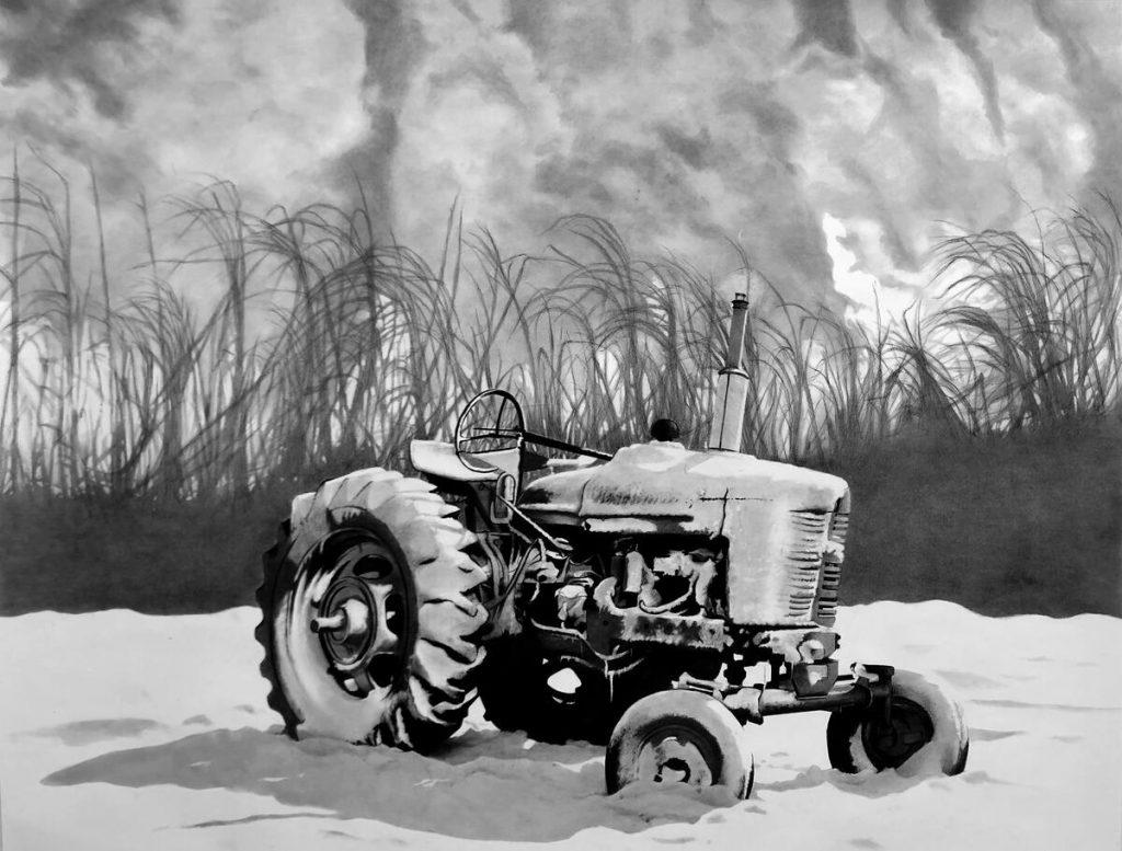 Deshielo / 2021 / Carbón sobre papel / 70 x 92 cm
